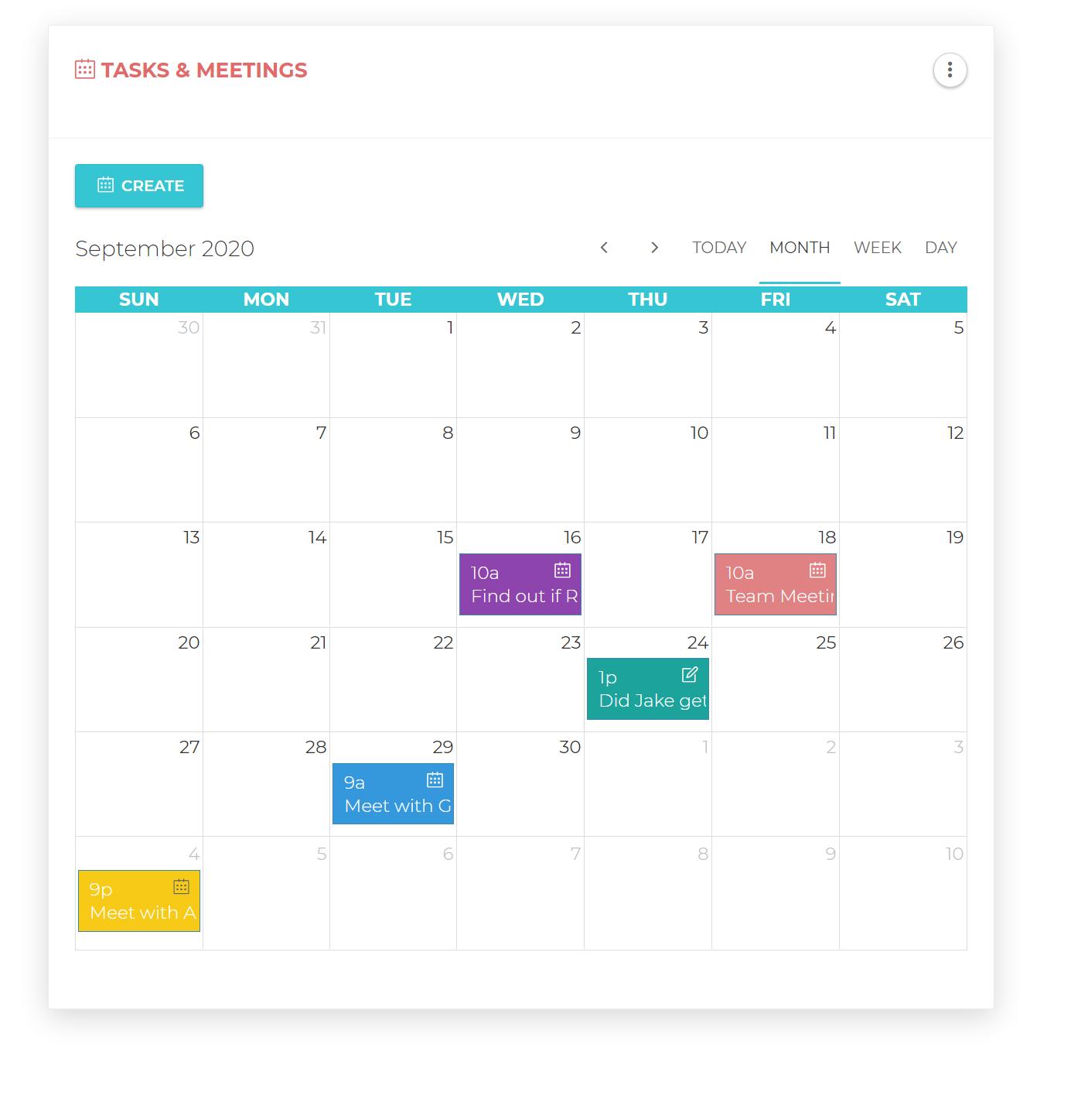 Tasks and Meetings